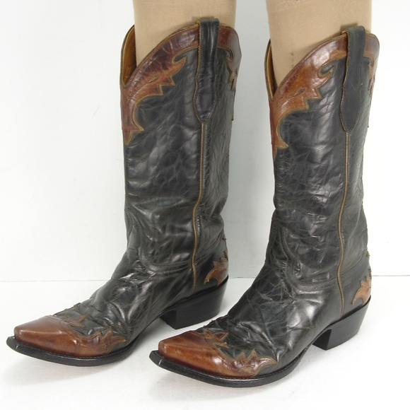 b381119ca9 OLD GRINGO LEATHER WINGTIP COWBOY BOOTS 8 D